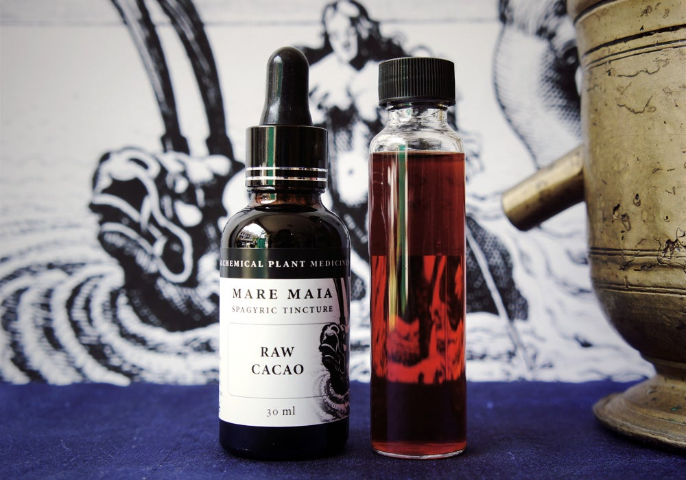 Image of RAW CACAO spagyric tincture - alchemically enhanced plant extraction
