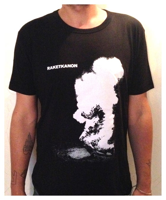 "Image of T-SHIRT ""BURNING MAN"" BLACK"