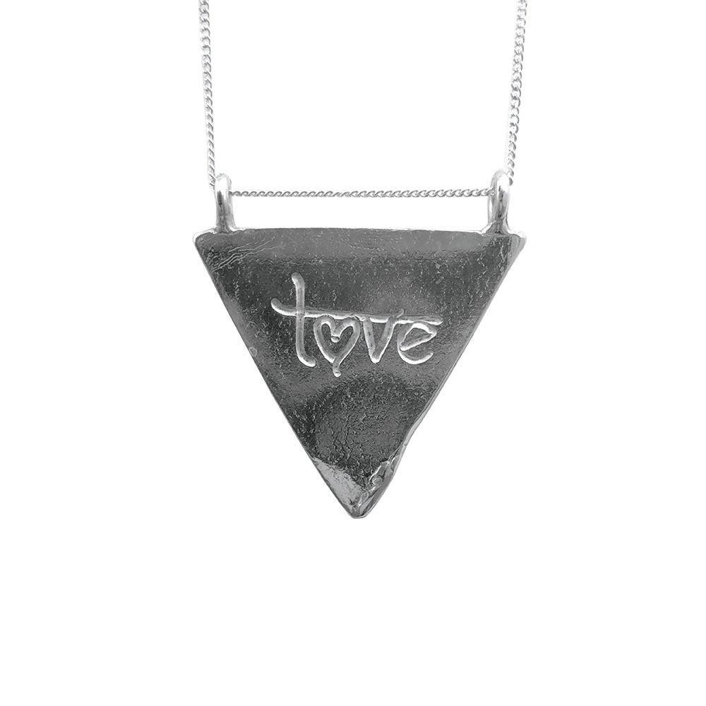 Image of Karmala Triangle Necklace Love
