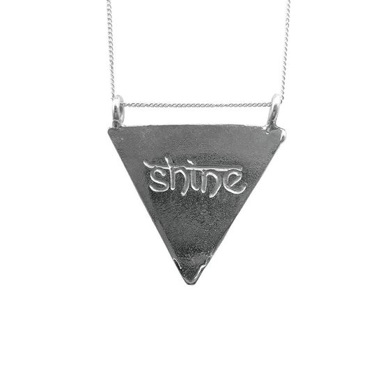 Image of Karmala Triangle Necklace Shine