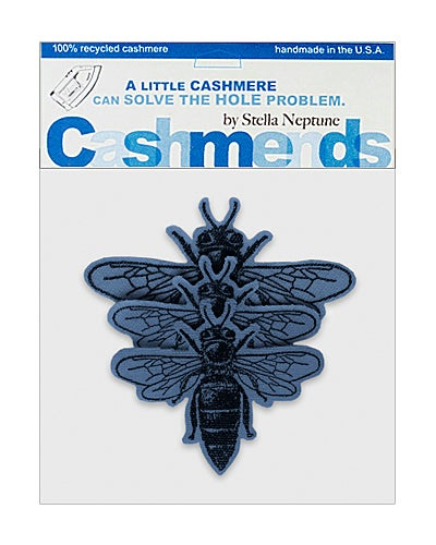 Image of Iron-On Cashmere Bees -Royal Blue