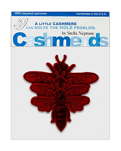 Image of Iron-On Cashmere Bees - Brick Red