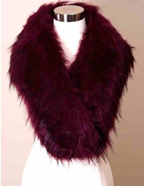 Image of Plum faux fur stole