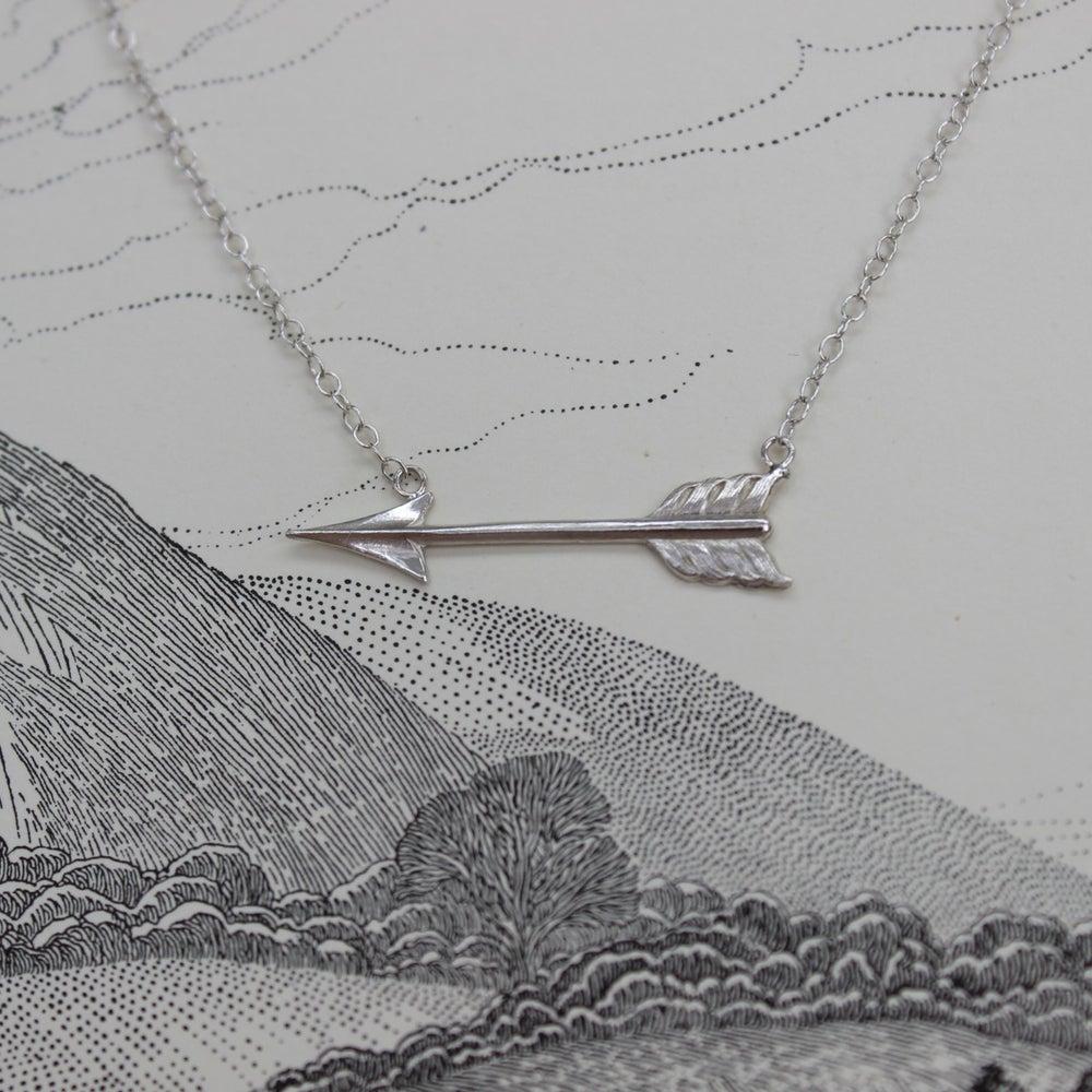 Image of silver arrow necklace