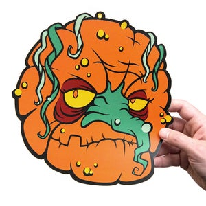 Image of Zombie Pumpkins Cutout Decoration