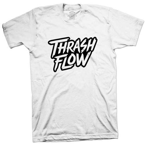 Image of Thrash Flow Logo T-Shirt (White)