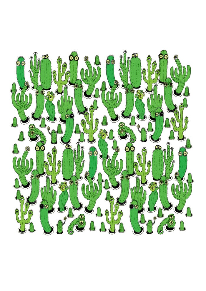 Image of Cacti - A3 Print By Polly Nor