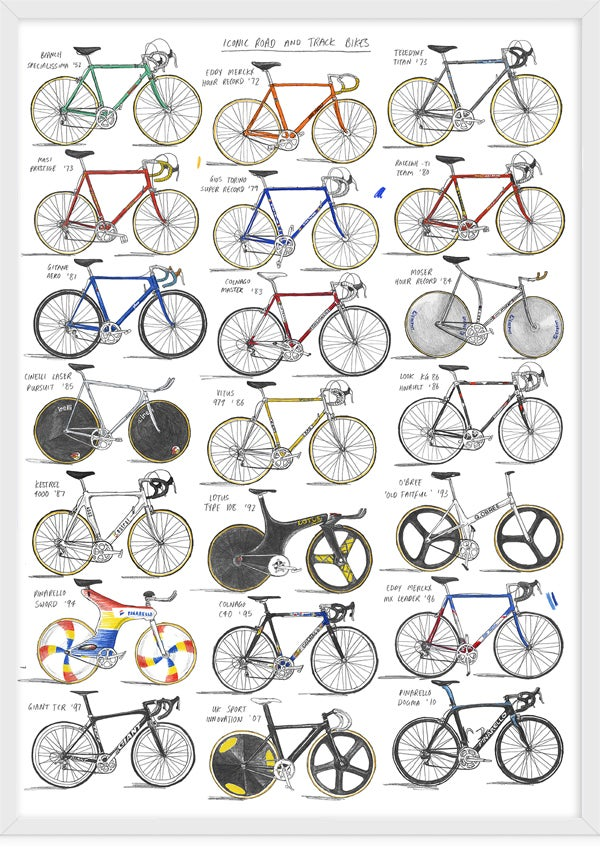 Image of Iconic Road And Track Bikes