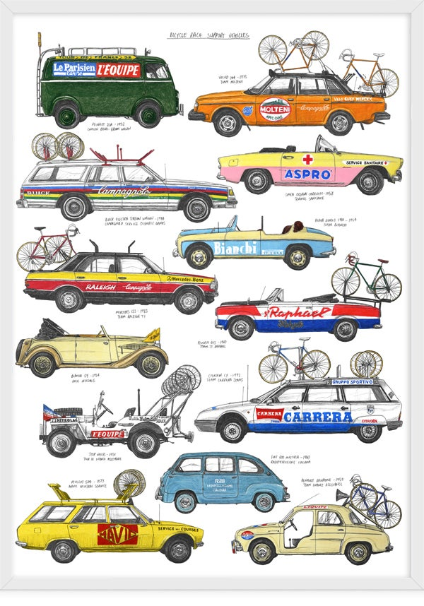 Image of Bicycle Race Support Vehicles - Version 1