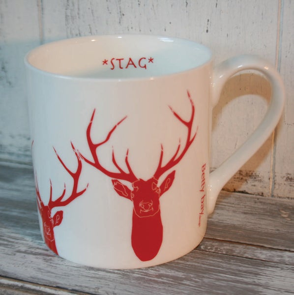 Image of Staggeringly Handsome Fine Bone China Mug in Red