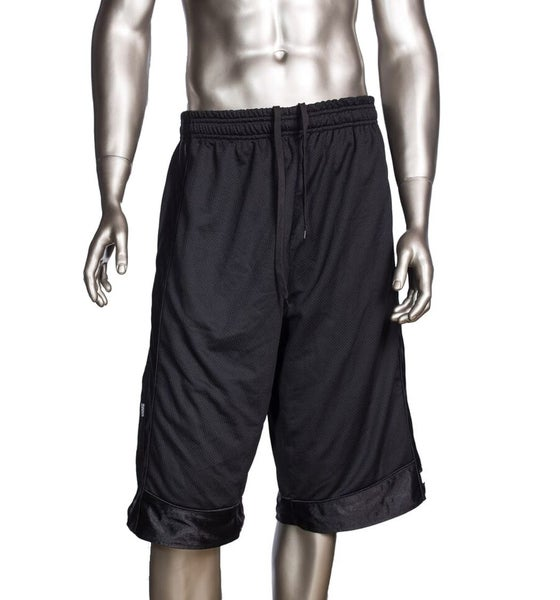 Image of Black Mens Athletic Mesh Shorts