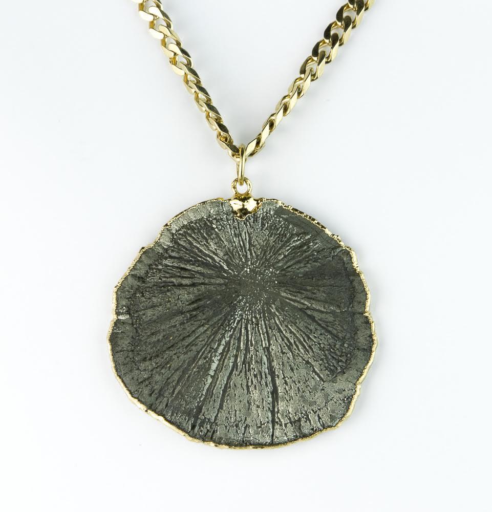 Image of Pyrite sunstone necklace