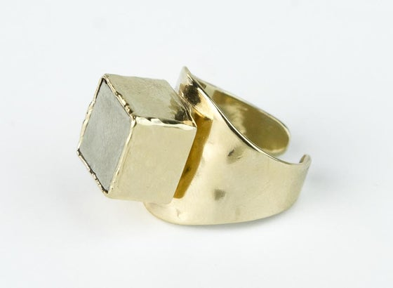 Image of Pyrite cube ring
