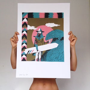 Image of WEIRD VALLEY LIMITED EDITION A2 INDIGO ART PRINT