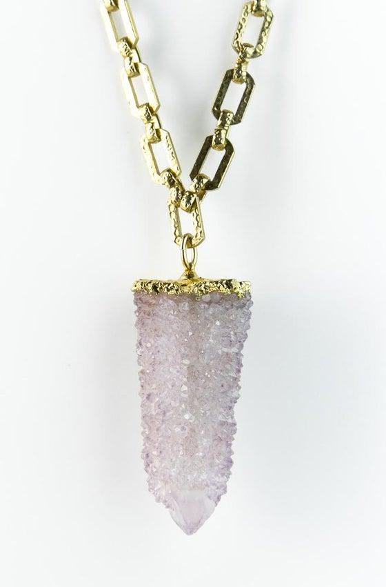 Image of Spirit druzy quartz necklace