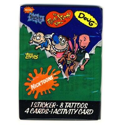 """Image of DOUG, RUGRATS, REN & STIMPY - """"NICKTOONS"""" CARDS - 90s"""