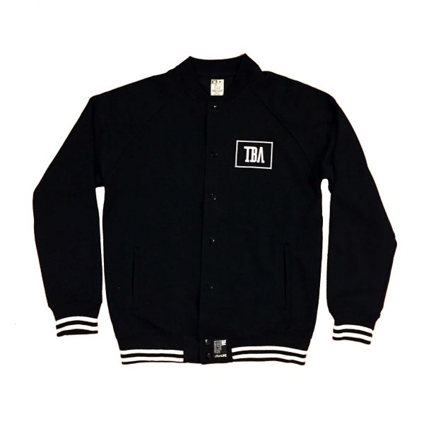 Image of Mens - TBA Varsity Jacket (BLACK)
