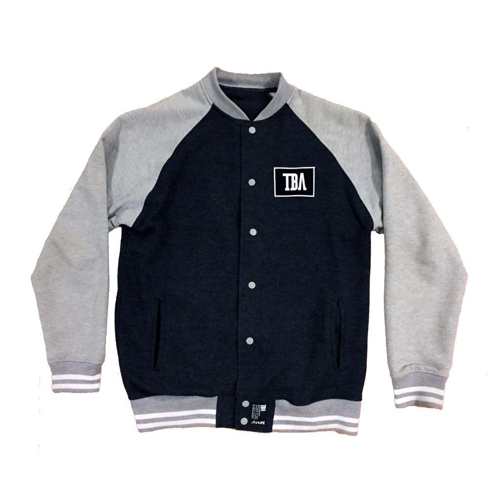 Image of Mens - TBA Varsity Jacket (GREY)