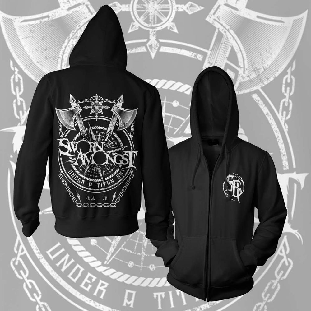 "Image of Sworn Amongst - ""Under a Titan Sky"" Hoodie (ZIP UP)"