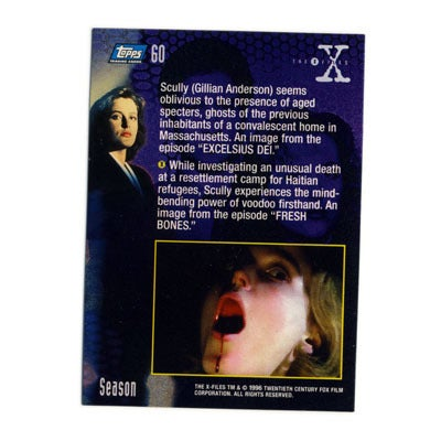 Image of X-FILES TRADING CARDS - MULDER & SCULLY - 1996