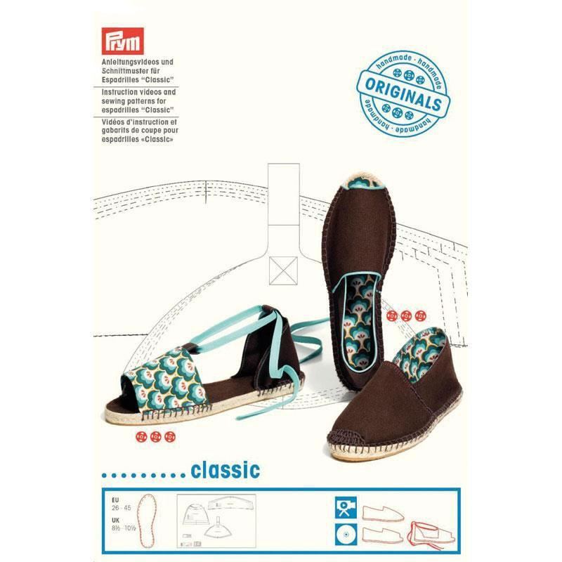 Image of classic espadrilles - Instruction videos and sewing patterns by Prym