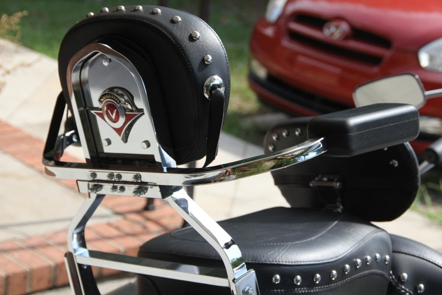 Image of Motorcycle rear passenger armrests : Universal fit and quick detach