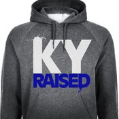 Image of Charcoal Grey / White / KY Blue KY Raised Hoodie