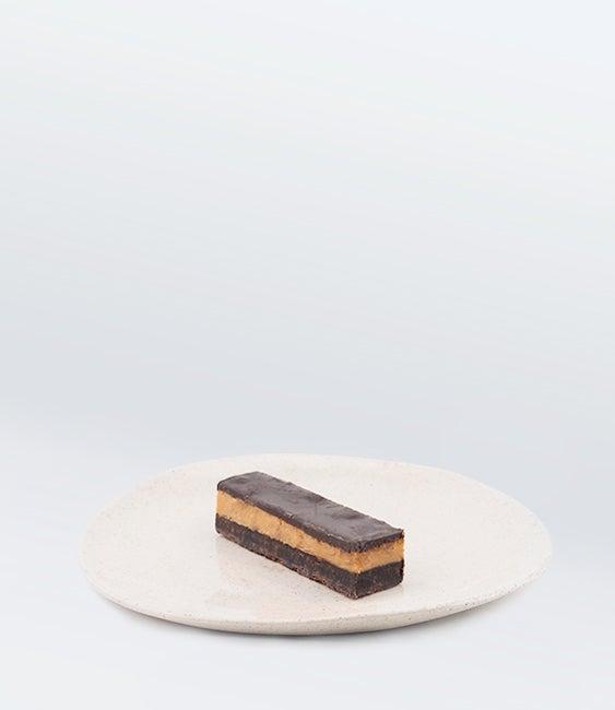 Image of Chocolate, Caramel, and Hazelnut Slice