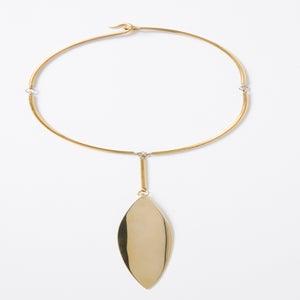 Image of Oversize Single Leaf Necklace