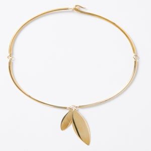 Image of Double Petite Leaf Necklace