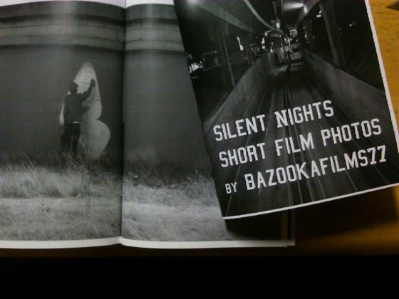 Image of Silent Nights Short Film Photos by BazookaFilms77 (1st Edition Zine) Signed & Dated