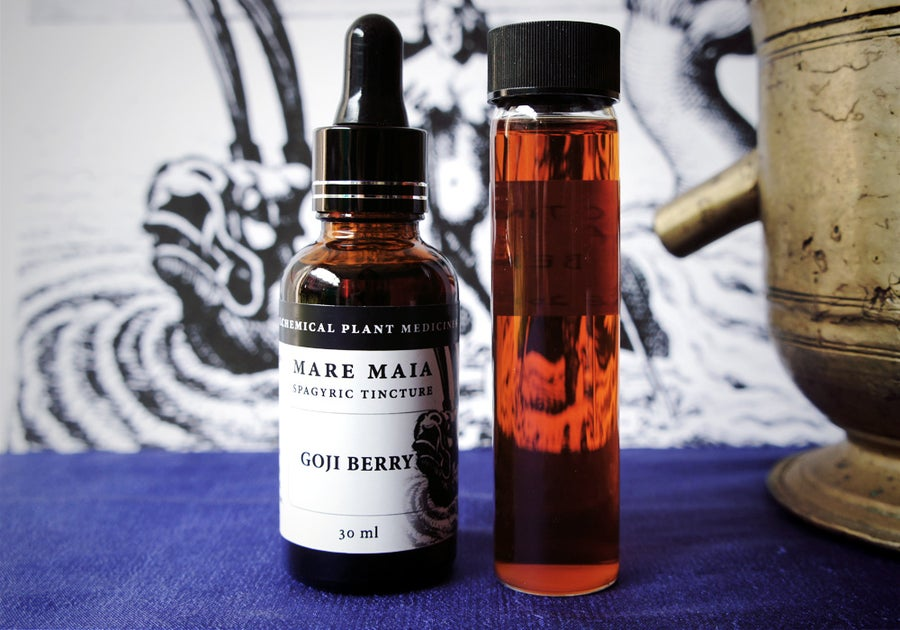 Image of GOJI BERRY spagyric tincture - alchemically enhanced plant extraction