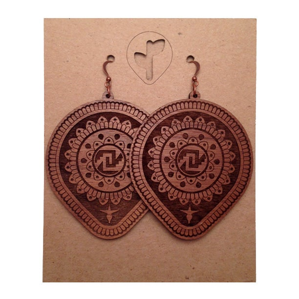 Image of leaf mandala / earrings