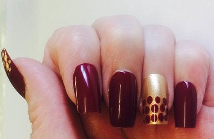 Image of Wine & Gold Dotty