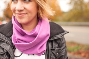Image of THE PERFECT ORGANIC COTTON INFINITY SCARF - WOMEN'S SIZE (PLUM)