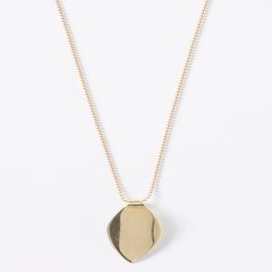Image of Tiny Single Leaf Necklace