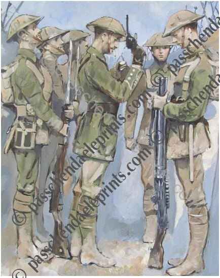 Image of 'Waiting for the whistle' The Somme 7.30 am 1916