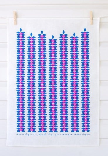 Image of Vines Tea Towel {assorted colours}
