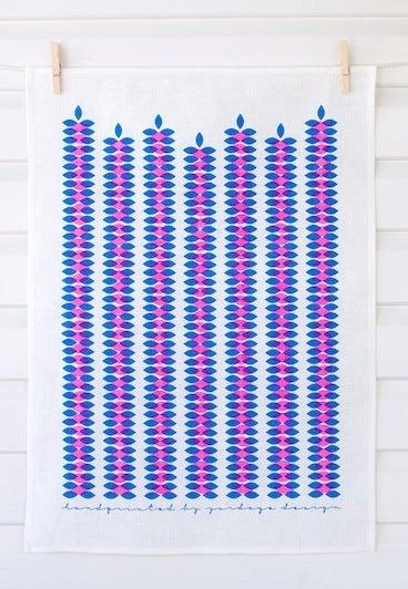 Image of Vines Tea Towel {assorted colours}