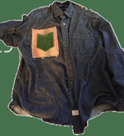 Image of Patch Pocket Denim Shirt