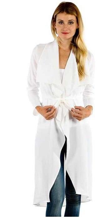 Image of White waterfall coat