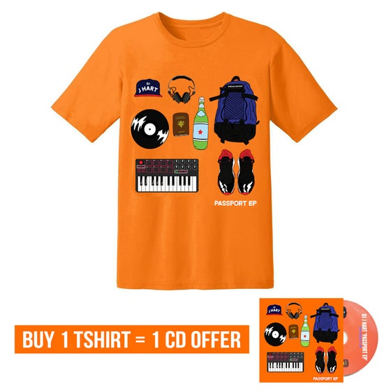 Image of LIMITED EDITION 'PASSPORT EP' T-SHIRT + AUTOGRAPHED CD