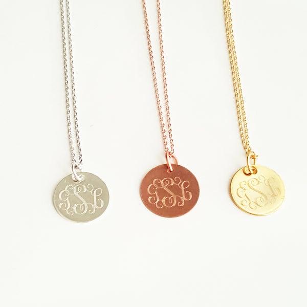 Image of Pretty Cursive Monogram Necklace