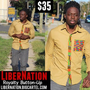 Image of LiberNation Royalty Button Up (gold)