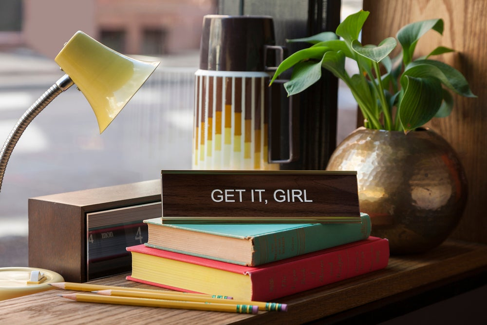 Image of GET IT, GIRL nameplate