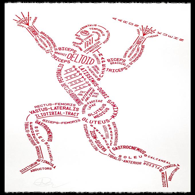 Image of Muscular Typogram - Print