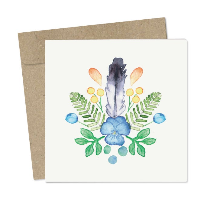 Image of 'Feather Crest' Card pack