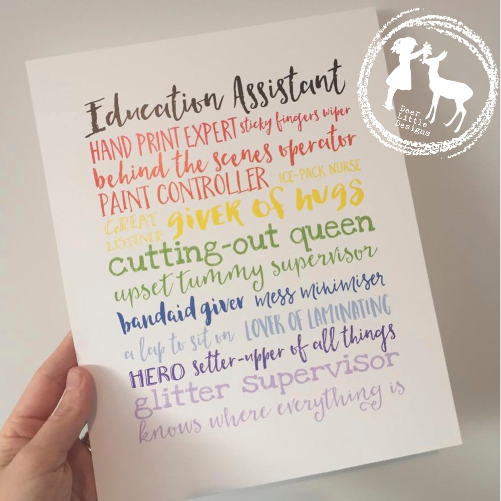 Image of Education Assistant Print