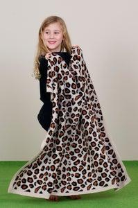 Image of Leopard Blanket Beige