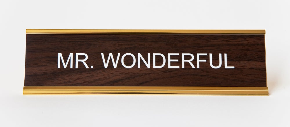 Image of MR. WONDERFUL nameplate